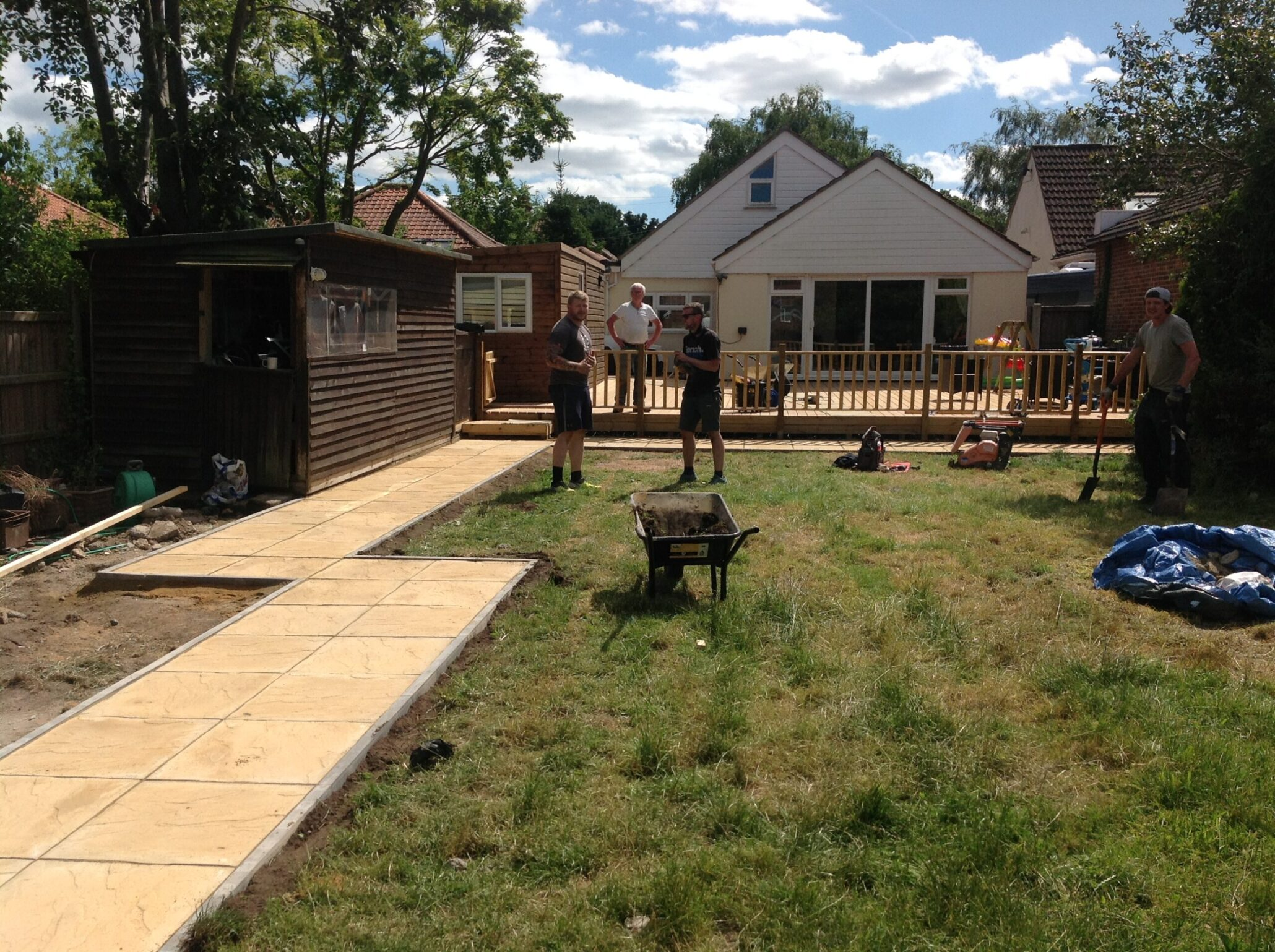 Path and large decking norwich decking co for Garden decking norwich