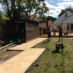 Slabb and timber deck installation. Earlham. Norwich.