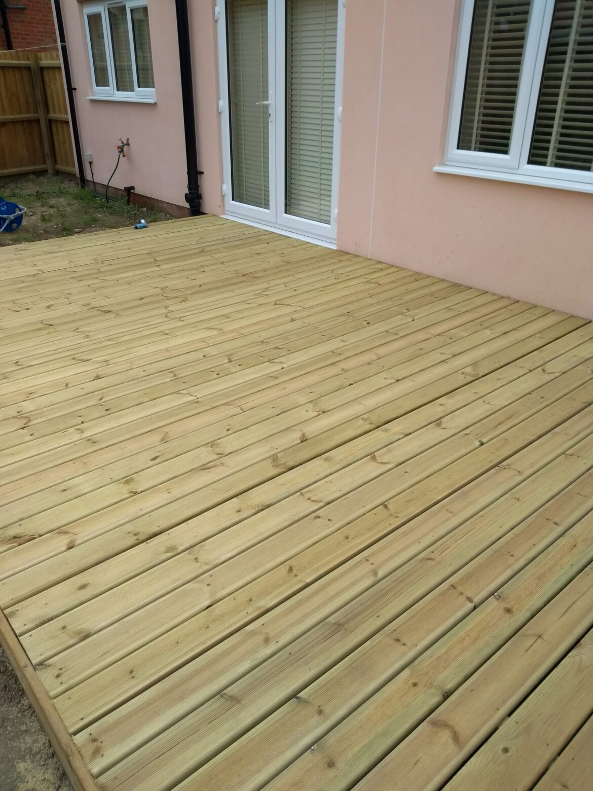 Timber decking on new build Norwich