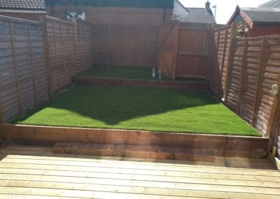 Artifical Grass and timber decking installation  Norwich